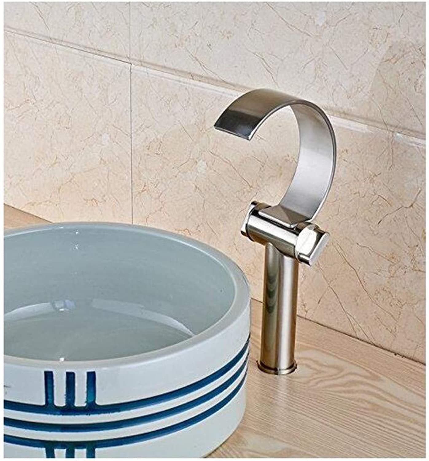 Faucet Luxury Modern Plated Mixer Faucet Dual Handles Three Holes Brushed Nickel Deck Mounted Bathroom Basin Sink Mixer Faucet