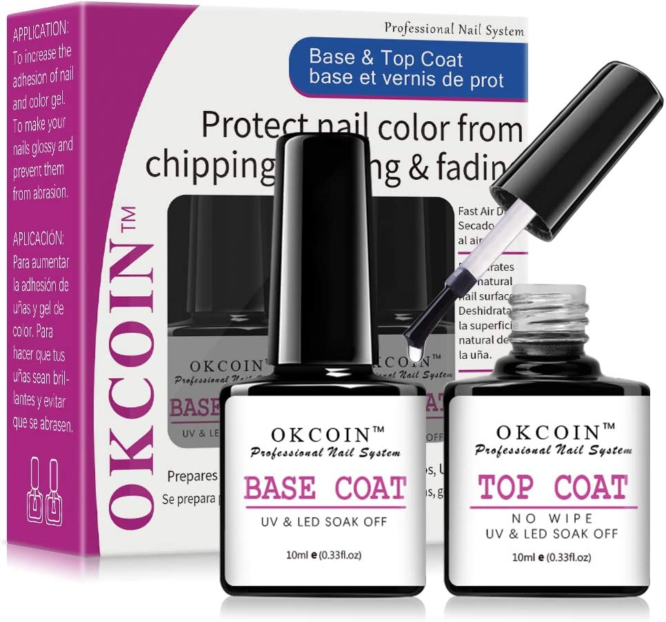 SEAL limited product OKCOIN Gel Base and Top No Set Coat Wipe Ranking TOP5