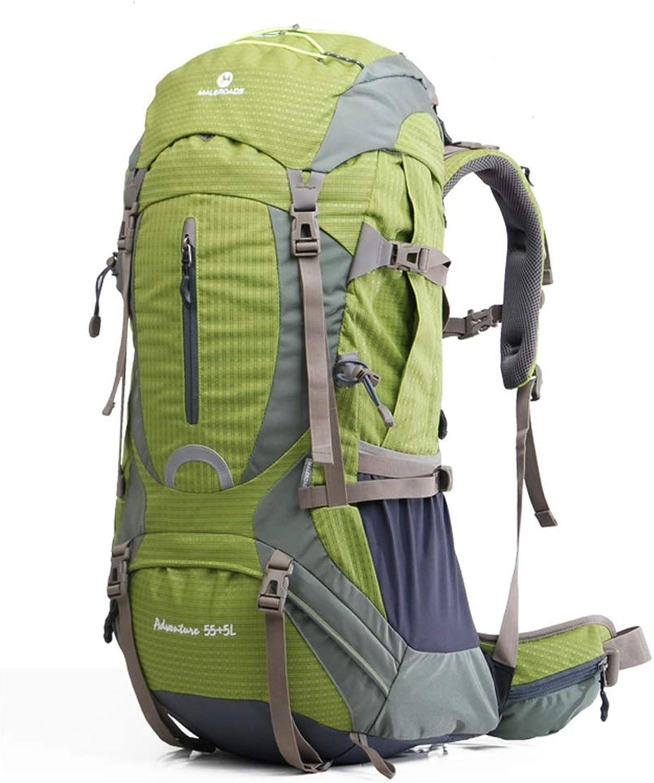 SMBYLL Wanderrucksack 60L Mnner groer Rucksack Ripstop und wasserdicht geeignet für Campingwandern im Freien Outdoor-Rucksack (Farbe   Grün)