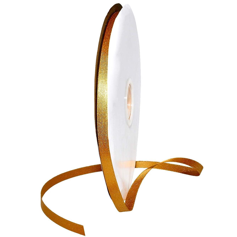 Morex Ribbon 8866 Glitter Pearl Ribbon, Old Gold