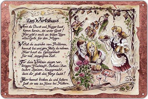Die Staffelei Geschenk Wirtshaus Wirtin Gastwirt Wirt Blechschild 30 x 20 cm