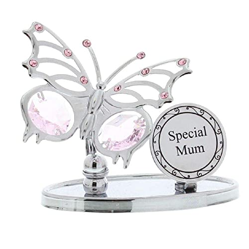 Crystocraft 'Special Mum' Swarovski Elements Butterfly Design Mum Gift