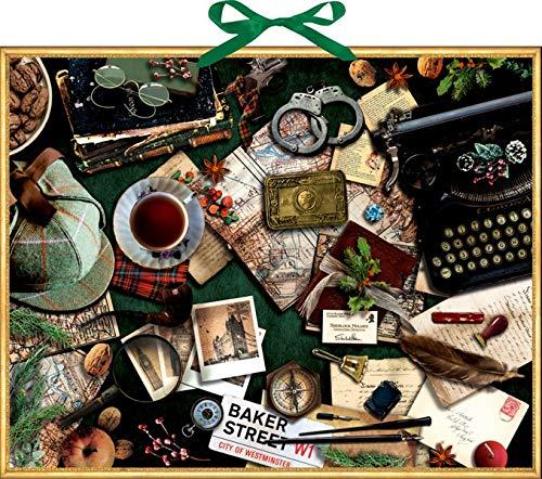 Zettelkalender - Krimi-Advent mit Sherlock Holmes: Die Geschichte des blauen Karfunkels in 24 Kapiteln