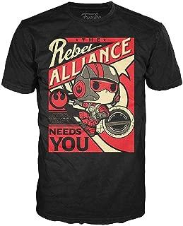 Funko Men's Pop! T-Shirts: Star Wars Ep 7 - Poe Propaganda