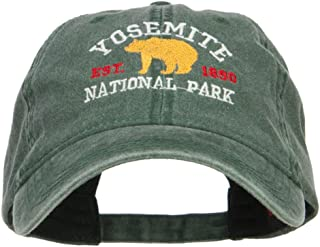 Yosemite National Park Embroidered Washed Cap