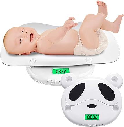 ベビースケール デジタル パンダ 新生児体重計 高精度 5g単位 はかり 赤ちゃん用 乳幼児 授乳 多機能 風袋機能付き 単位切替機能 表示固定 赤ちゃんから成人まで使える 100g~60kg (ホワイト)