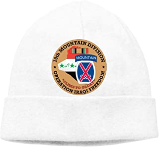 HUYAOZHENfa 10th Mountain Division Beanies Cap Skull Hat Knit Hat for Adults