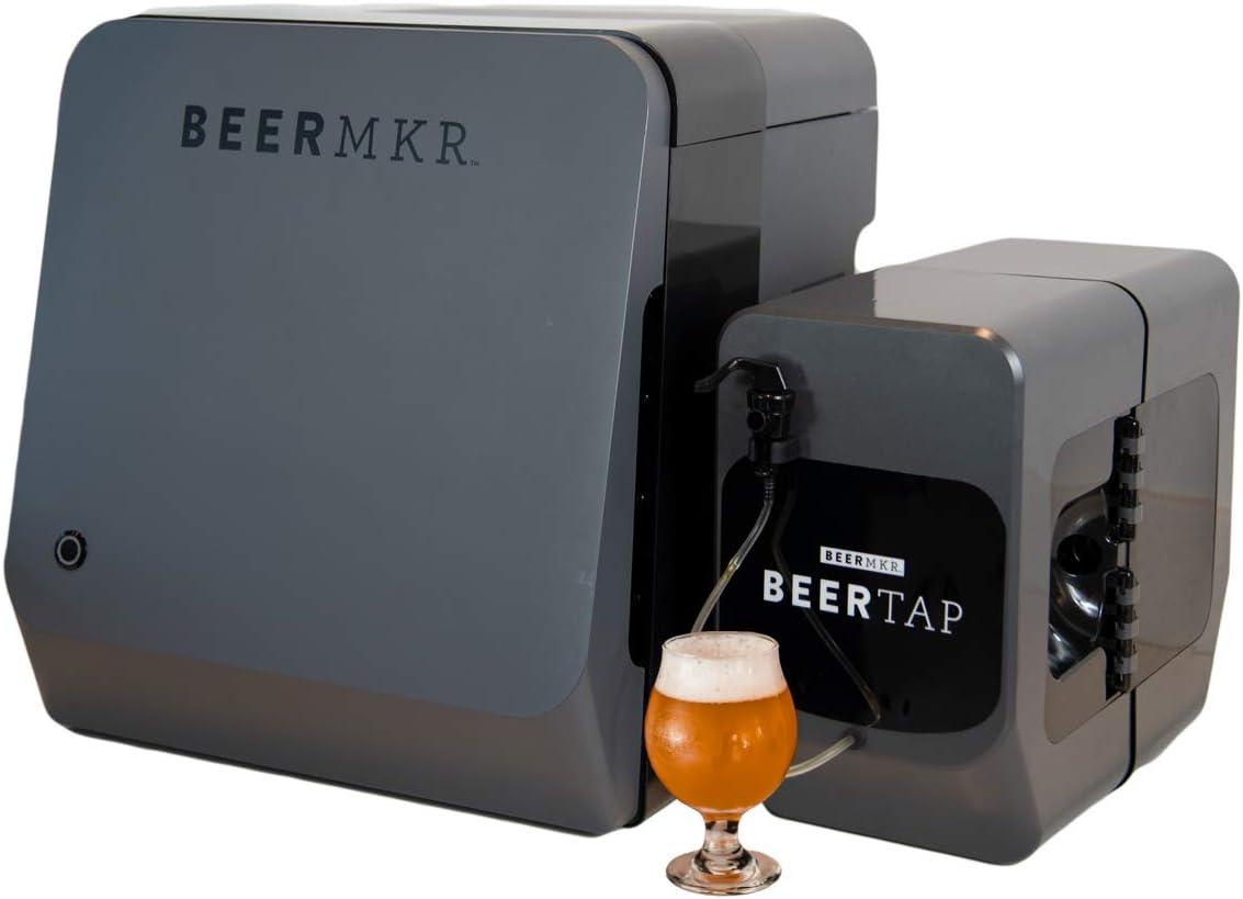 BEERMKR: Automated All-Grain Beer Brewing Machine + BEERTAP. Easy Setup. Custom Craft Beer Maker.