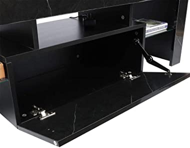 LED TV Stand Cabinet Unit Modern TV Desk with Storage for Living Room Home Forniture 130CM TV Entertainment Unit Bench Cabine