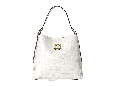 Furla Belvedere Small Hobo (Gesso) Handbags