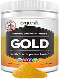 Sponsored Ad - Organifi: Gold - Superfood Supplement Powder - 30 Servings - Deep Sleep, Immunity and Cognitive Function Su...