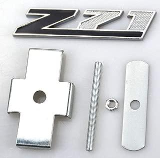 1 Pcs Grille Z71 Emblem Badge Compatible for GMC Chevy Silverado 1500 2500HD Sierra Tahoe Suburban 3D (Chrome/Black)