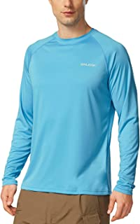 BALEAF Men's UPF 50+ Running Outdoor Sun Protection Long Sleeve Performance Athletic Workout Shirt