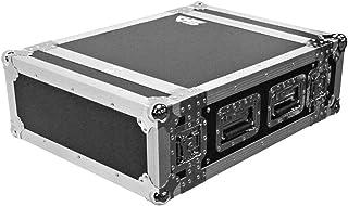 Seismic Audio - SATAC4U - Heavy Duty 4 Space ATA Rack Case - 4U PA DJ Amplifier Flight Road Case - Pro Audio DJ Rack