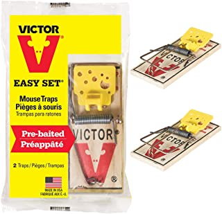 Victor M035 V Mouse Traps, Yellow, 2 Traps