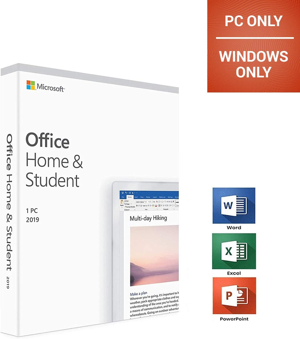 Office Home and Student 2019 | For PC | Not for MacOS | - Office 2019 Home & Student | Only Windоws (not for macOS) | Lifetime License