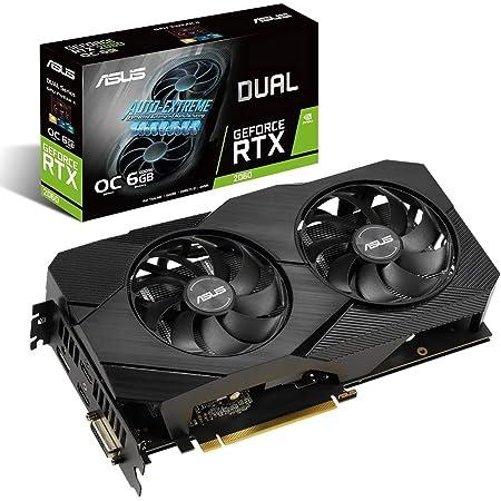 ASUS Dual GeForce RTX™2060 グラフィクスボード OC/6G/DDR6/2.5 slot (DUAL-RTX2060-O6G-EVO)