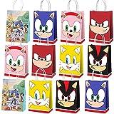 Sonic Party Geschenktüte, 12 PCS tragbare Sonic Bonbontüte Geburtstagsfeier Geschenktüte,...