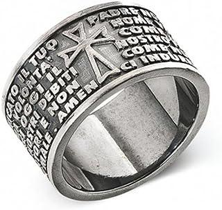 1a15b67ca24fcc anello uomo gioielli Amen Padre Nostro Italiano misura 22 casual cod.  PNB925-22
