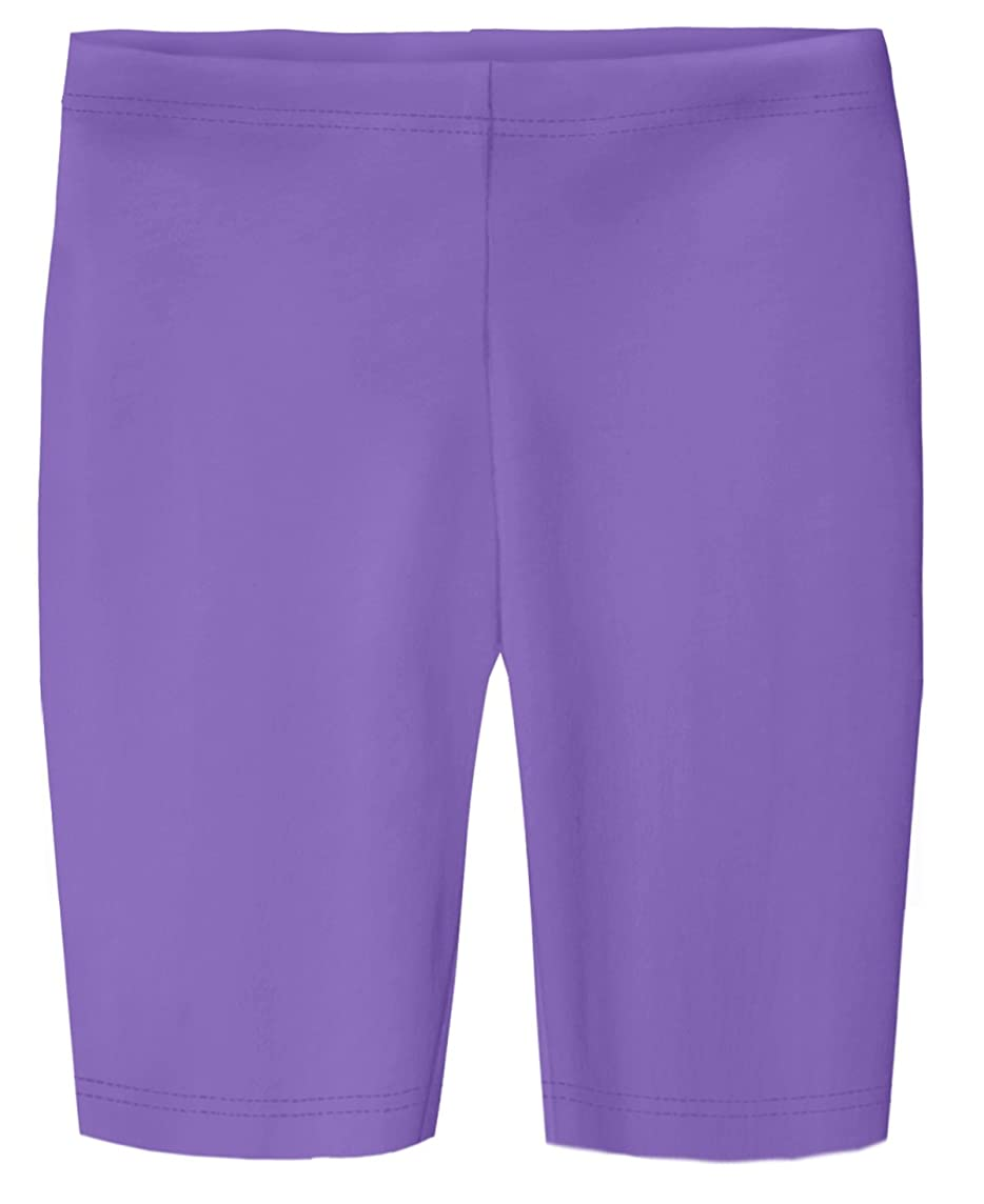 City Threads Girls' Cotton Long Bike Shorts for School Play Sports Under Skirts
