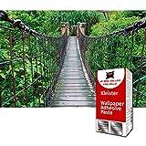 GREAT ART Papier Peint Photo de décoration Motif Pont de Corde de la Jungle par...