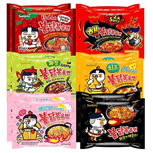 Samyang BULDAK Ramen 12er MIX | Kennenlernbox | Koreanische Hot Chicken Ramen 12er Mix zum Probieren