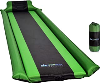 IFORREST Self-Inflating Camping Sleeping Pad w/Inflatable Armrest & Pillow - Ultra-Comfortable Foam Air Mattress - Ideal Camp Bed for Hiking, Tent, Cot, Backpacking and Travel Bag!