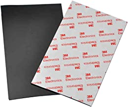 ROOS 2-Piece Self-Stick Rubber Anti-Skid Pad Furniture and Floor Protectors (Black) by ROOS