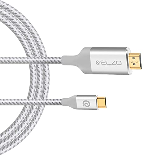 6.6ft USB-C USB 3.1 Type C Male to USB 3.1 Type C White Extension Data Cable CA