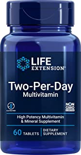 Life Extension Two Per Day (High Potency Multi-vitamin & Mineral Supplement), 60 Tablets