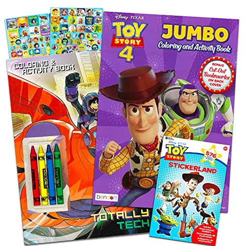 Disney Pixar Toy Story Coloring and Activity Book Bundle with Crayons and Over 550 Toy Story Stickers (Toy Story Party Supplies)