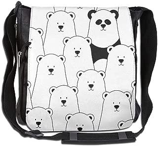Eden Edies Polar Bear and Panda Unisex Crossbody Bag Messenger Shoulder Sling Postman Bags