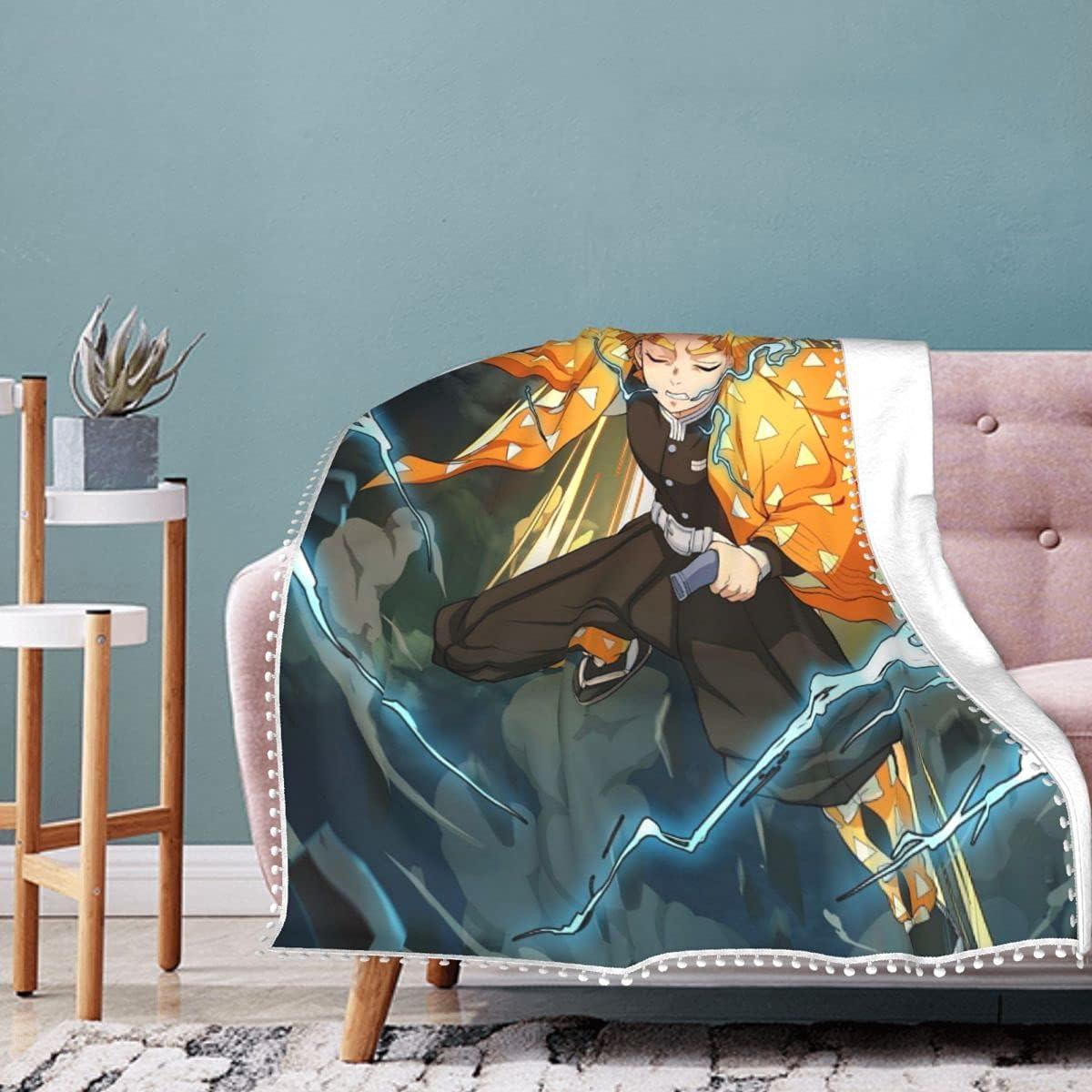 Awhgbnl Ultra-Soft Micro Fleece Flannel ,Ds Oklahoma City 2021 autumn and winter new Mall An Zenitsu Blanket