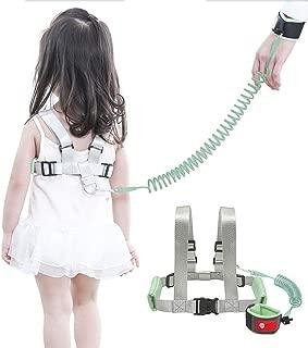 OFUN Toddler Wrist Leash Harness, Kids Anti Lost Wrist Link, Toddler Leash Walking Harness, 6.6ft Green
