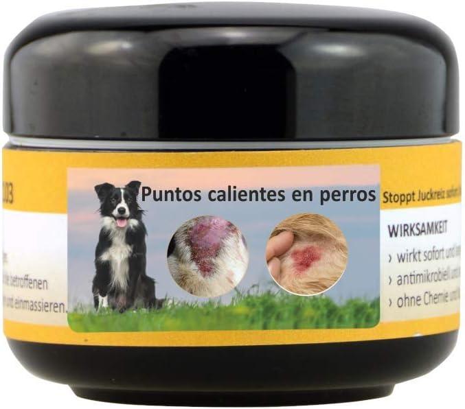 Peticare Perro Bio Crema contra PIO-Dermatitis y Hot-Spot - Pomada Especial para Formas Puntos Calientes Atopica, Alivia Picores, Calma la Piel, Cuidado 100% Organico - petDog Health 2109 (100 ml)