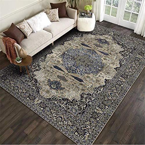 Tangyuan woonkamertapijt, modern geometrisch patroon, binnentapijten zijn elegant en exquise klassieke vintage duurzame, hoogwaardige antifouling-kortpolige tapijten.
