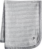Coolibar UPF 50+ Baby Fauna Sun Blanket - Sun Protective (One Size- Grey/White Mini Stripe)