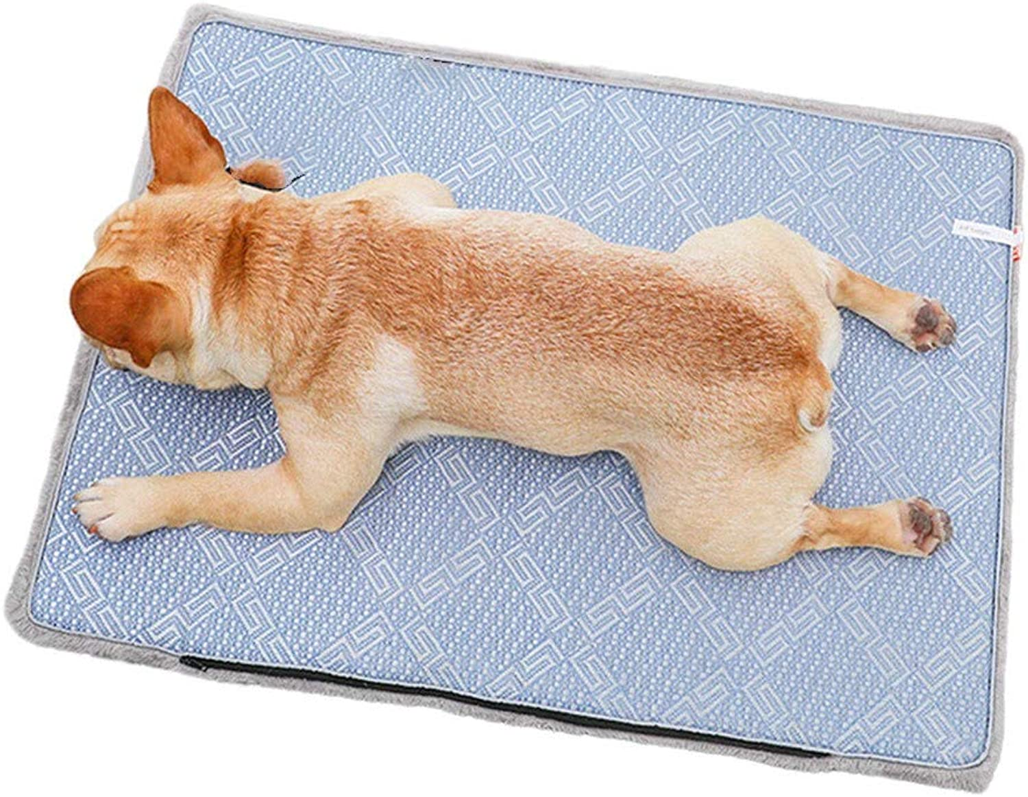 Dog Cool Mat,Ice Vine mat pet Dog Spring and Autumn Warm pad Summer Cooling mat Dualuse mat Blanket Mesh Material Breathable Cushion for Small Medium Large Dogs and Cats