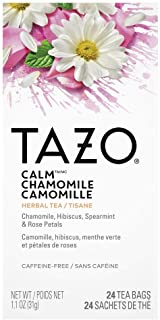 Sponsored Ad - TAZO Calm Chamomile Enveloped Hot Tea Bags Herbal, Caffeine Free, Non GMO, 24 count, Pack of 6