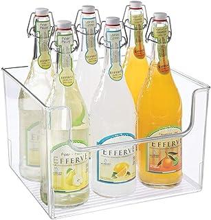 mDesign bac de rangement pour frigidaire, étagère ou congélateur – bac alimentaire avec grande ouverture en plastique sans...