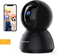 APEMAN WiFi Camera 1080P Pet Camera Baby Monitor Compatible with Alexa Home IP Wireless Security Camera Motion Tracking/Detection 2-Way Audio IR Night Vision Pan/Tilt/Zoom