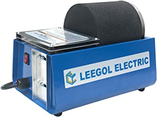Leegol Electric Hobby Rock Tumbler Machine - Single Drum 3LB Rotary Rock Polisher (Single Barrel)