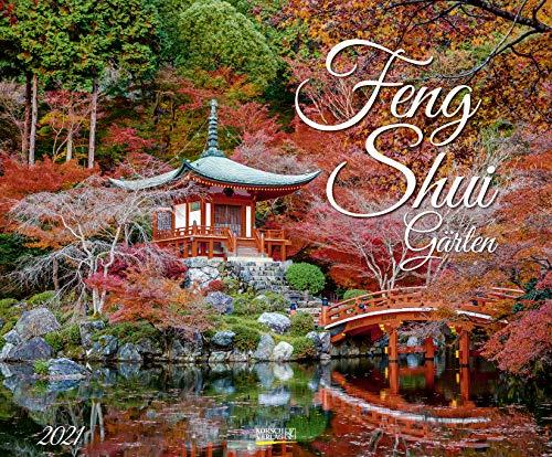 Feng Shui Gärten 2021: Großer Wandkalender. Foto-Kunstkalender mit asiatischen Gärten im Querformat 55 x 45,5 cm.