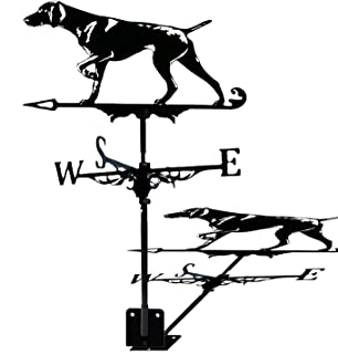 YDHNB Metal Weathervane with Retriever Ornament Garden Stake Weather Vane Sailboat Pirate Ship Wind Direction Indicator fo...