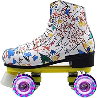Epic Double-Row Roller Skates Adult Men And Women Double-Row Roller Skates Beginner Children Four Roller Skates Flash Lumi...