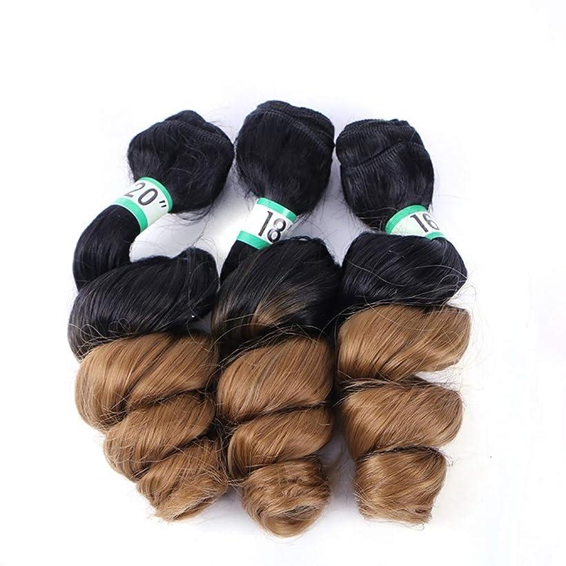アイロニー葬儀フィードオンYrattary ブラジルの髪織りルースウェーブ3バンドルヘアエクステンション - 4#ブラウンヘアスタイリング(16