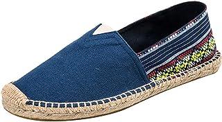 Espadrilles Femme Pas Cher A La Mode À Semelle Mince Respirant Plates Confort Ethniques Style Chaussures De Toile Loafers