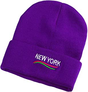 234a175a3547a FarJing Adult Women Men Winter Crochet Hat Knit Hat Solid Color Warm Cap
