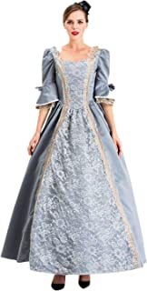 Kstare Gothic Court Dress for Women Steampunk Retro Medieval Embroidery Vintage Laces Princess Victorian Costume