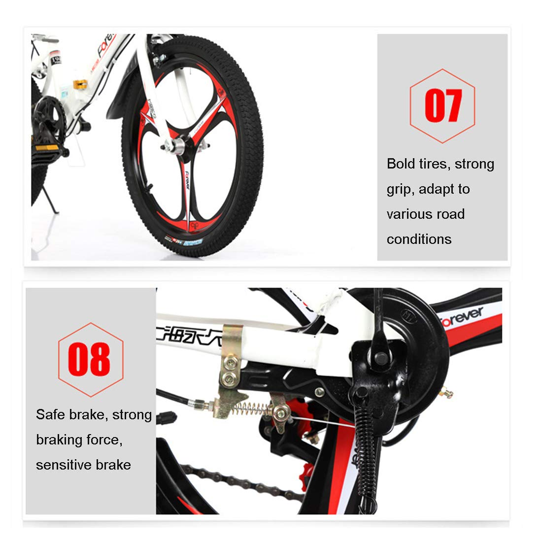 GRXXX Bicicleta para niños Plegable Bicicleta de montaña Velocidad 16/20 Pulgadas Escuela Primaria Bicicleta,White-16 Inch: Amazon.es: Hogar